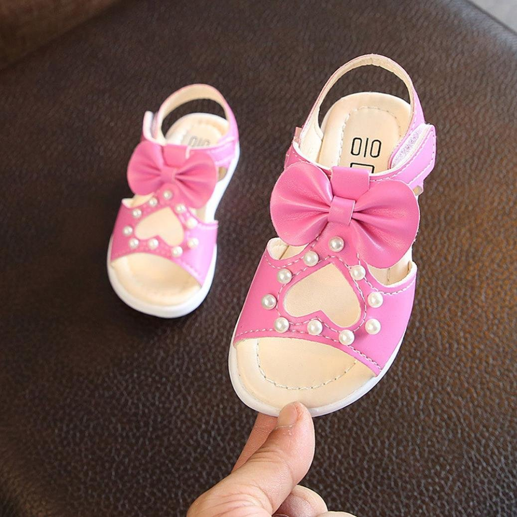 Sandalias Ni/ñas Xinantime Zapatos de Suela Suave Princesa de la luz Zapatos Prewalker Zapatos Las Sandalias Huecos del Bowknot de La Ni/ña encendieron Los Zapatos