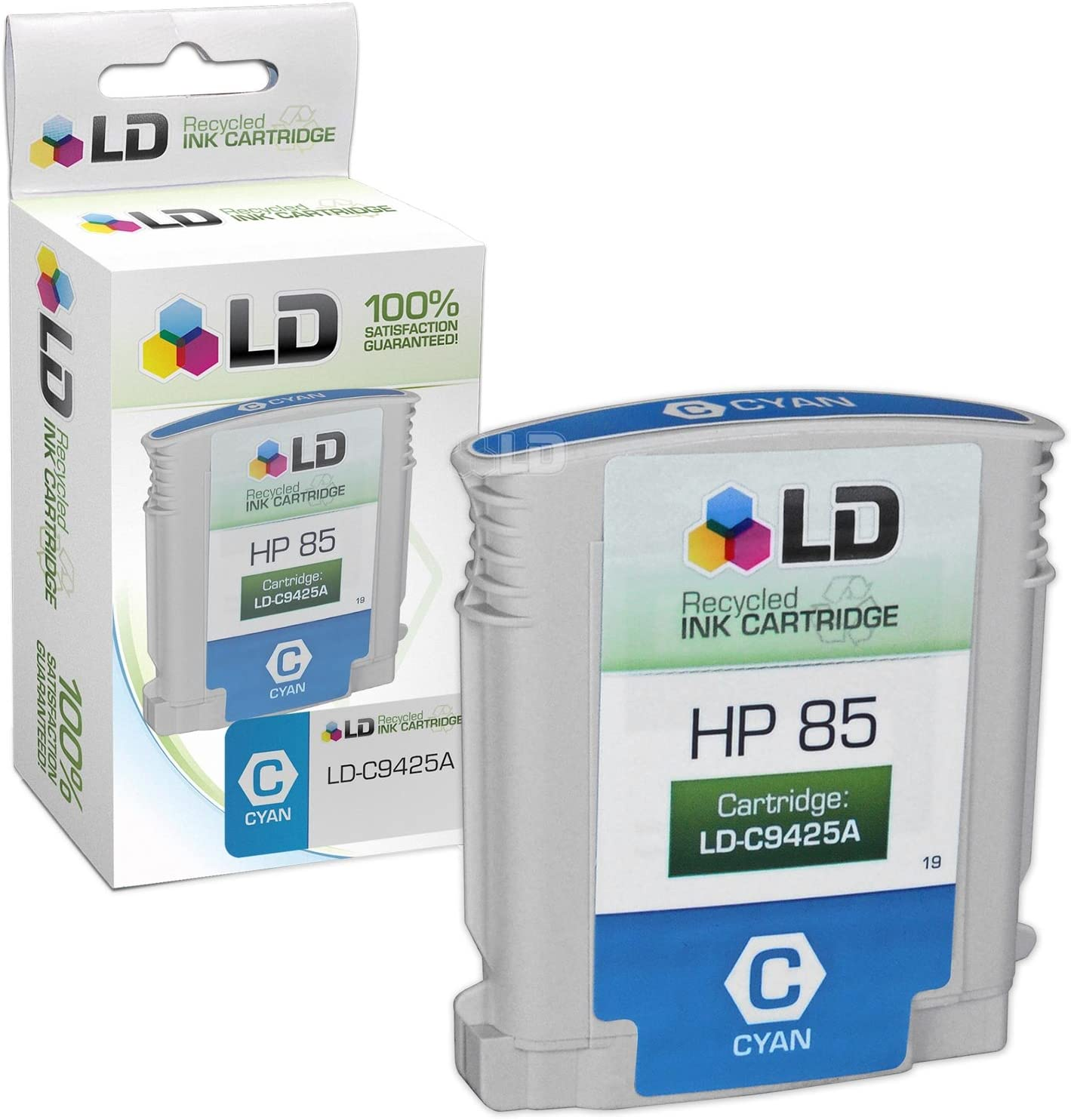 LD Remanufactured Ink Cartridge Replacement for HP 85 C9425A (Cyan)