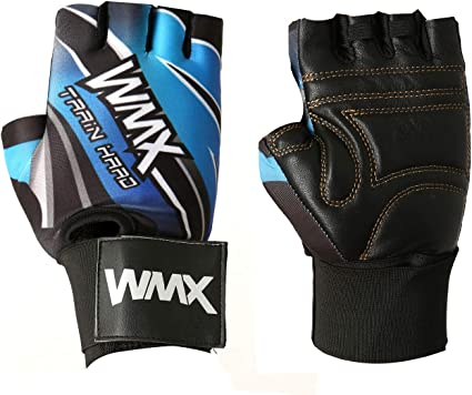Grip Pad Gel padded Gloves strap Weight Lifting BodyBuilding Gym support PAIR