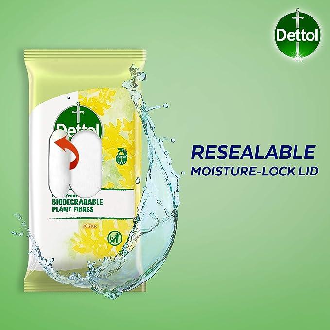 Dettol - Toallita para cítricos (biodegradable, 80 unidades ...