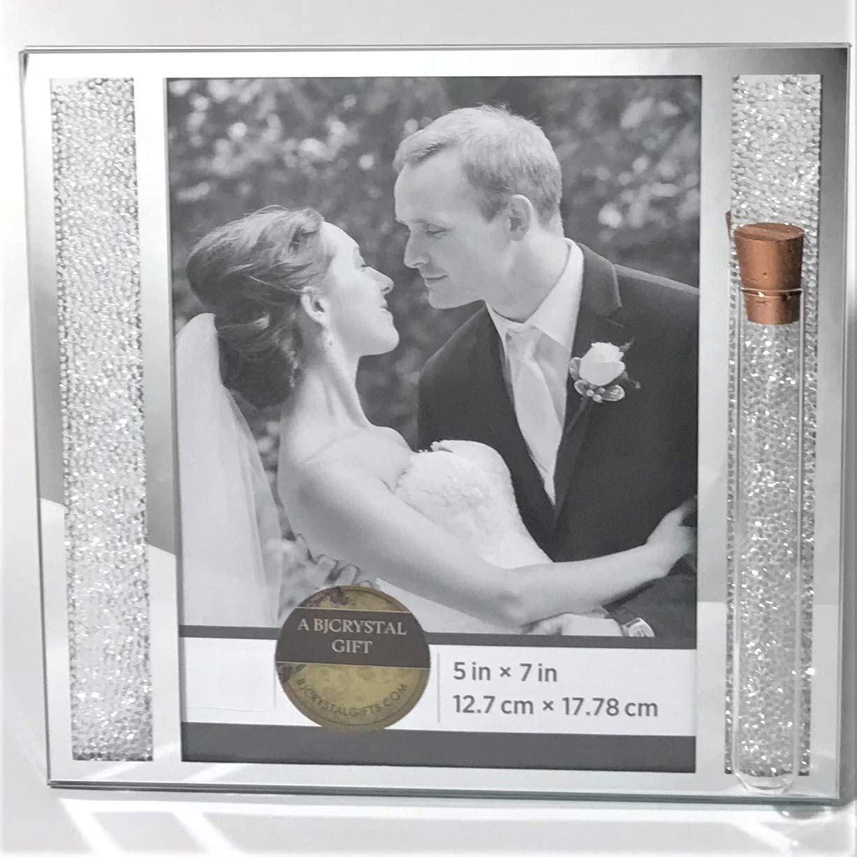 8 x 10 Picture Holds Shards From Jewish Wedding Ceremony Unique Gun Metal Color Jewish Wedding Picture Frame Jewish Engagement Gift