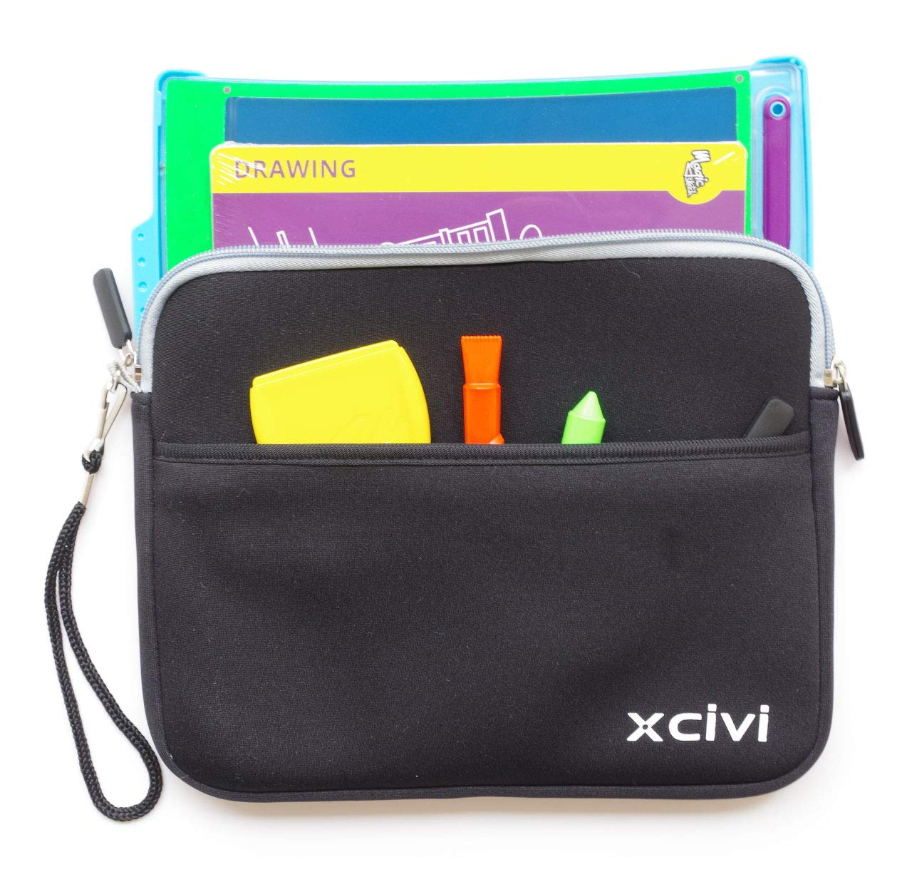 Xcivi Neoprene Protective Carry Case for Boogie Board Magic Sketch Kit Blue