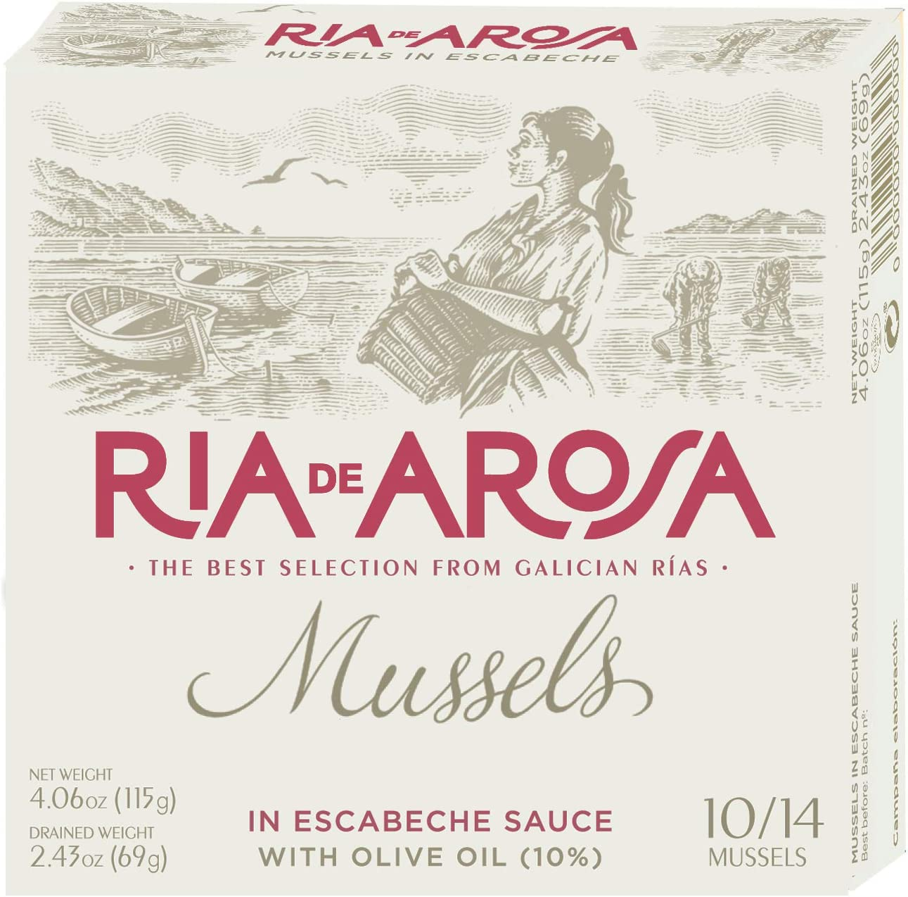 Mejillones en escabeche 115g (10/14 piezas) Ría de Arosa-Ortiz: Amazon.es: Alimentación y bebidas