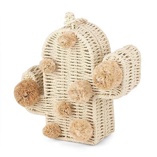 Nice Pies Bolso de playa cactus paja bolsas de verano con ...