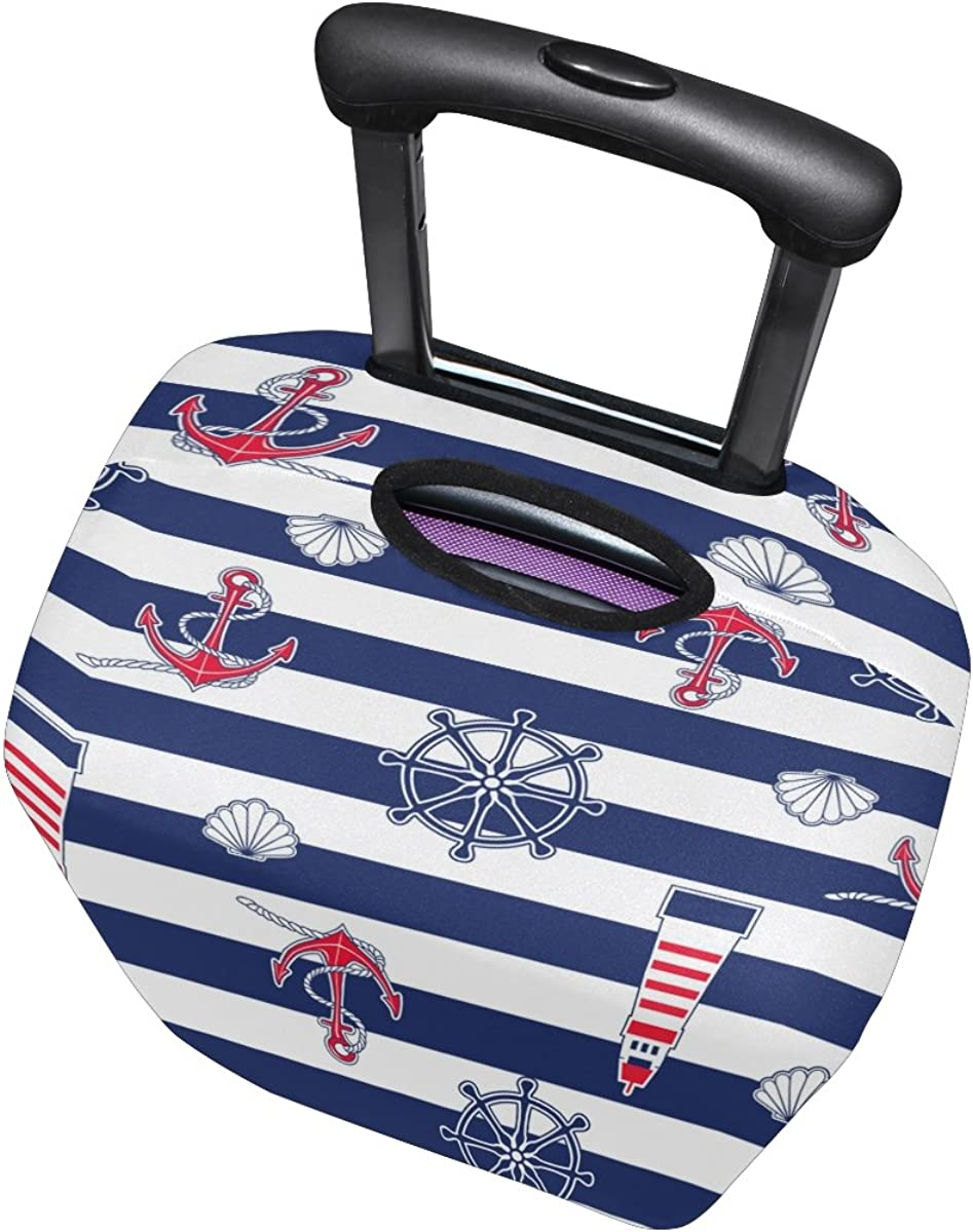 LAVOVO Marine Anchor Lighthouse Luggage Cover Suitcase Protector Carry On Covers