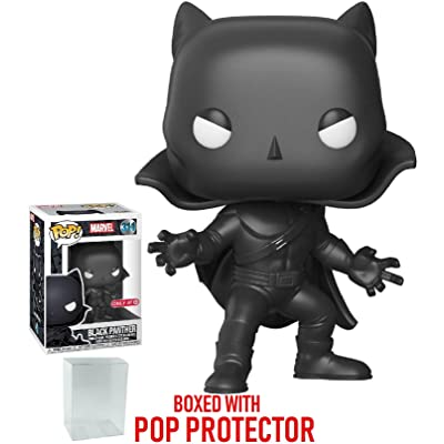 Funko Pop! Marvel: Black Panther - 1966 Mask & Cape Black Panther #311 Target Exclusive Vinyl Figure (Bundled with Pop Box Protector Case): Toys & Games