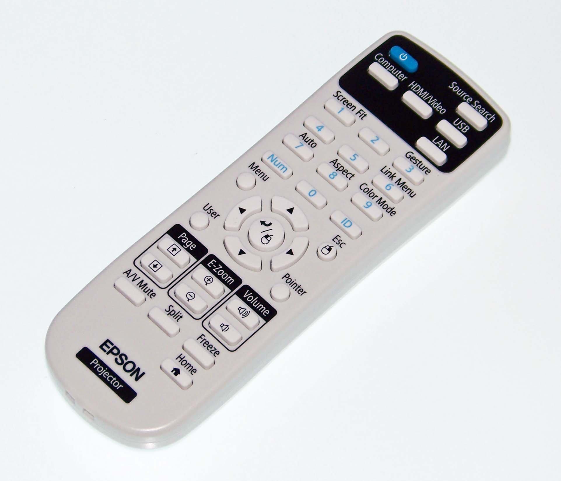 OEM Epson Remote Control: PowerLite 2265U, PowerLite Home Cinema 1450 by Epson