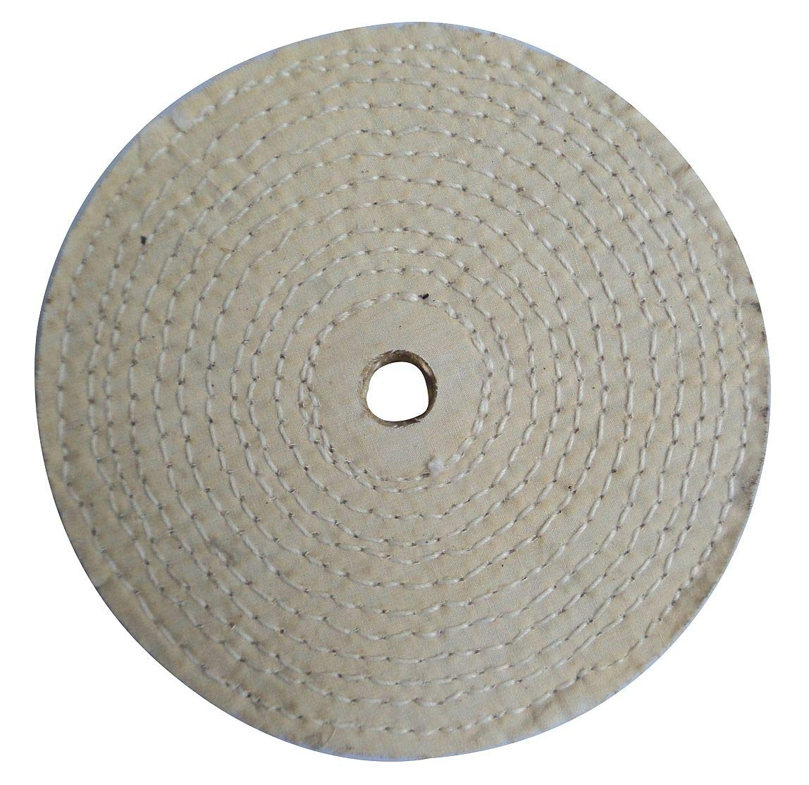 Buffing Wheel, Spiral Sewn, 6 In Dia. - 12U107 (Pack of 5)