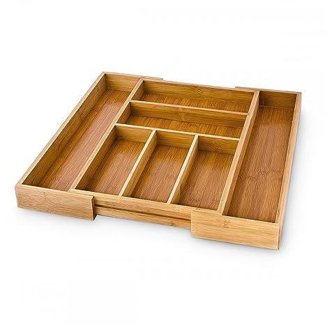 Amazon.com: Relaxdays bambú Cocina Cajón Organizador ...