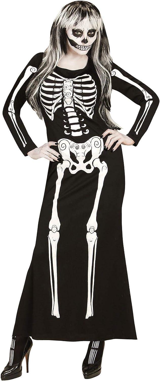 WIDMANN 65663Adultos Disfraz Esqueleto para Mujer, L