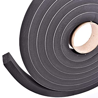 Sponge Neoprene Stripping W//Adhesive 3//4in Wide X 3//4in Thick X 15ft Long