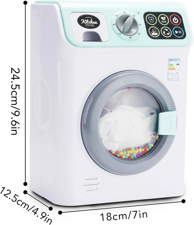 Battery Operated Sound /& Light Washing Machine Toy Unisex Pretend Play
