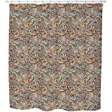 Uneekee Tadpole And Fish In Africa Shower Curtain: Large Waterproof Luxurious Bathroom Design Woven Fabric