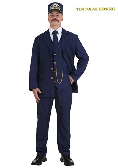 amazoncom adult polar express conductor clothing - Halloween Costume Ideas Mustache