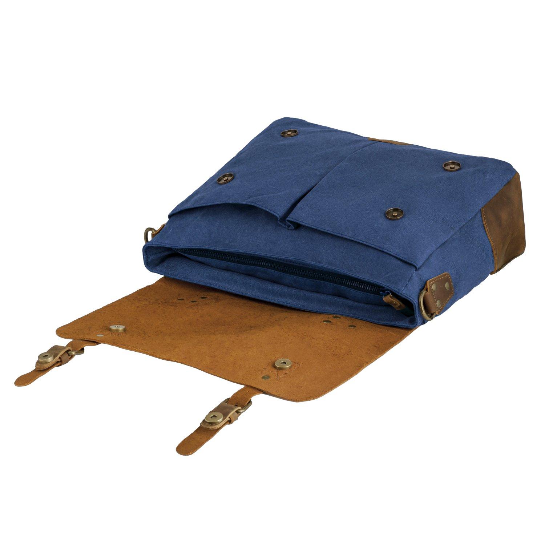 2e914cd695 Canvas Leather Satchel