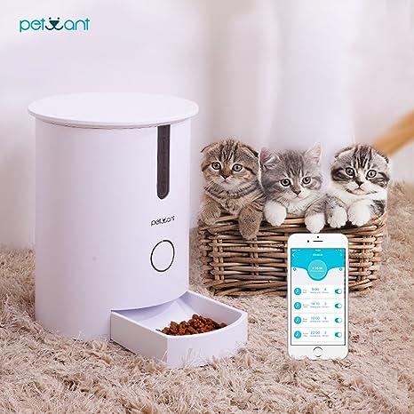 Comederos Automático para Mascotas, Raffaello Smart Perros Alimentador Dispensador de Alimentos para Perros Grandes,