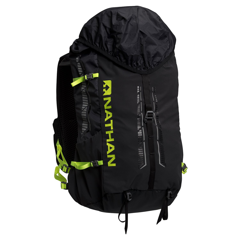 NathanスポーツJourney 25l Fastpack Hydrationバックパック – ns4534 X-Small ブラック/セーフティイエロー B06WD57XRJ