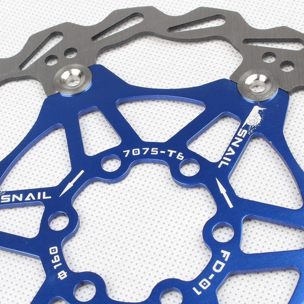 203MM disco galleggiante per Mountain Bike Wovemster Freni a disco MTB per biciclette blu