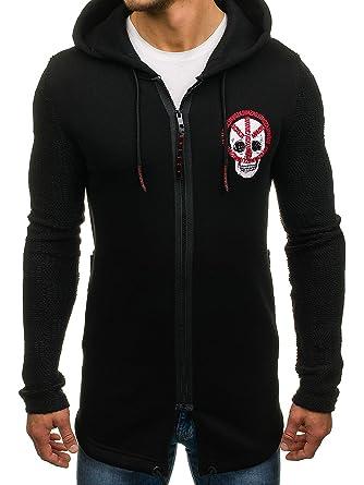 BOLF Herren Kapuzenpullover Sweatjacke mit Kapuze Sweatshirt Pullover  Hoodie Lang Mix 1A1  Amazon.de  Bekleidung c5685ebe1f