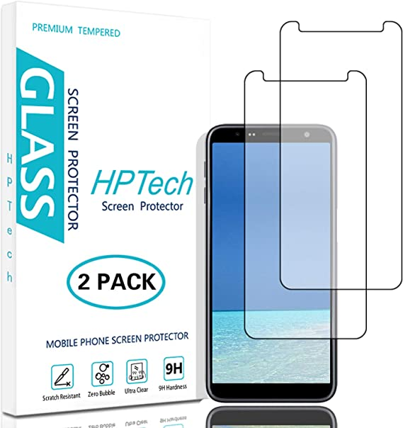 2-Pack Tempered Glass for Samsung Galaxy Note 5 Screen Protector Bubble Free HPTech Galaxy Note 5 Screen Protector - Easy to Install with Lifetime Replacement Warranty