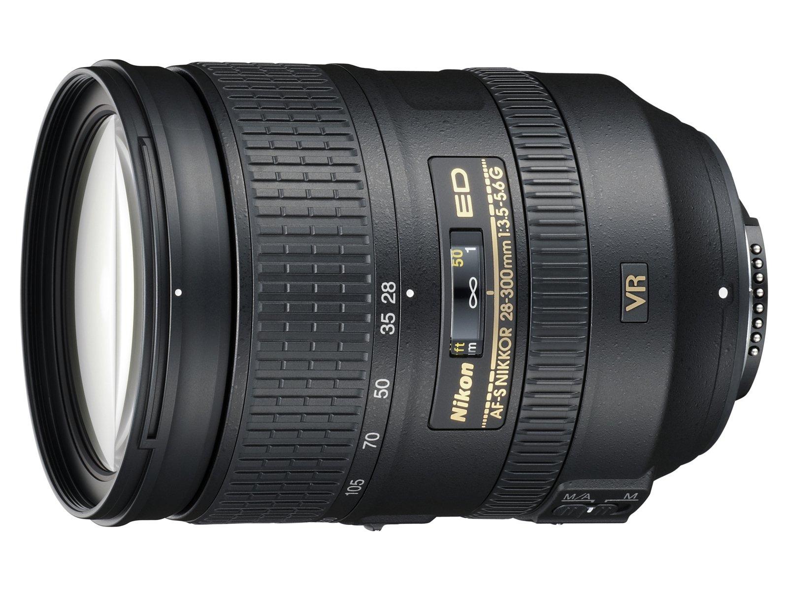 Nikon AF-S FX NIKKOR 28-300mm f/3.5-5.6G ED Vibration Reduction Zoom Lens with Auto Focus for Nikon DSLR Cameras by Nikon