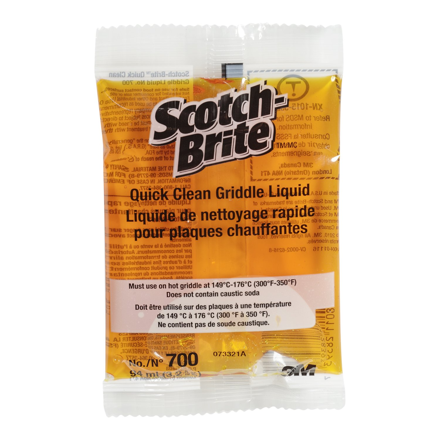 Scotch-Brite 700-40 Quick-Clean Griddle Liquid, 3.2-Ounce Packets (Case of 40)