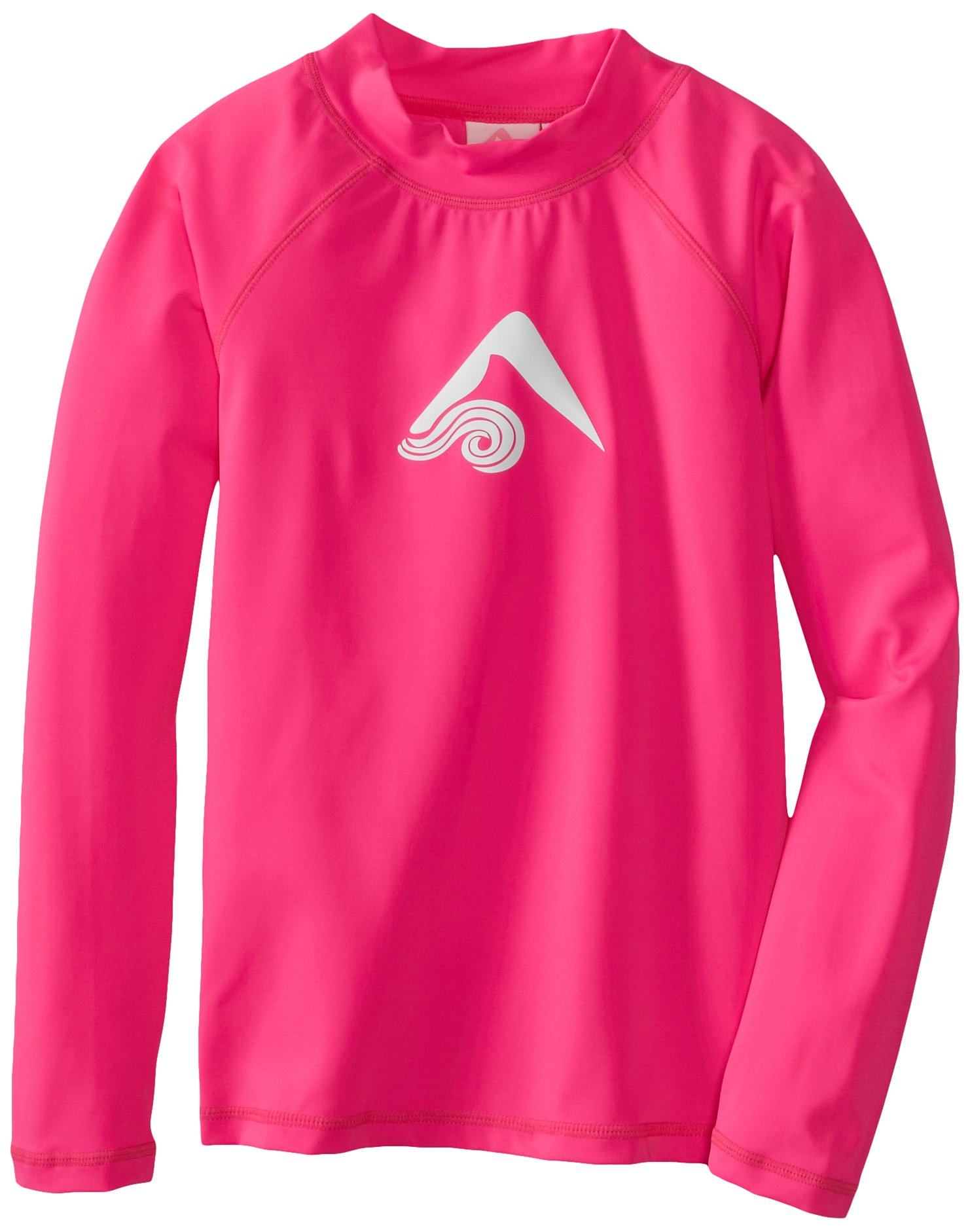 Kanu Surf Big Girls' Keri Long Sleeve Rashguards, Neon Pink, X-Small (6)