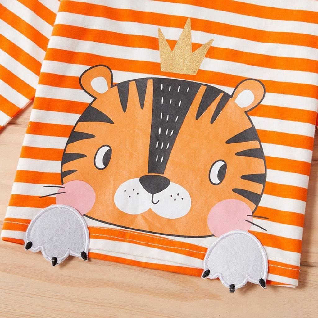 Allence Kinderbekleidung,Neugeborenen Baby Jungen M/ädchen Cartoon Drucken Kapuzenpullover Tops Shirt Hosen Outfits Set Warm Pullover Sweatshirts