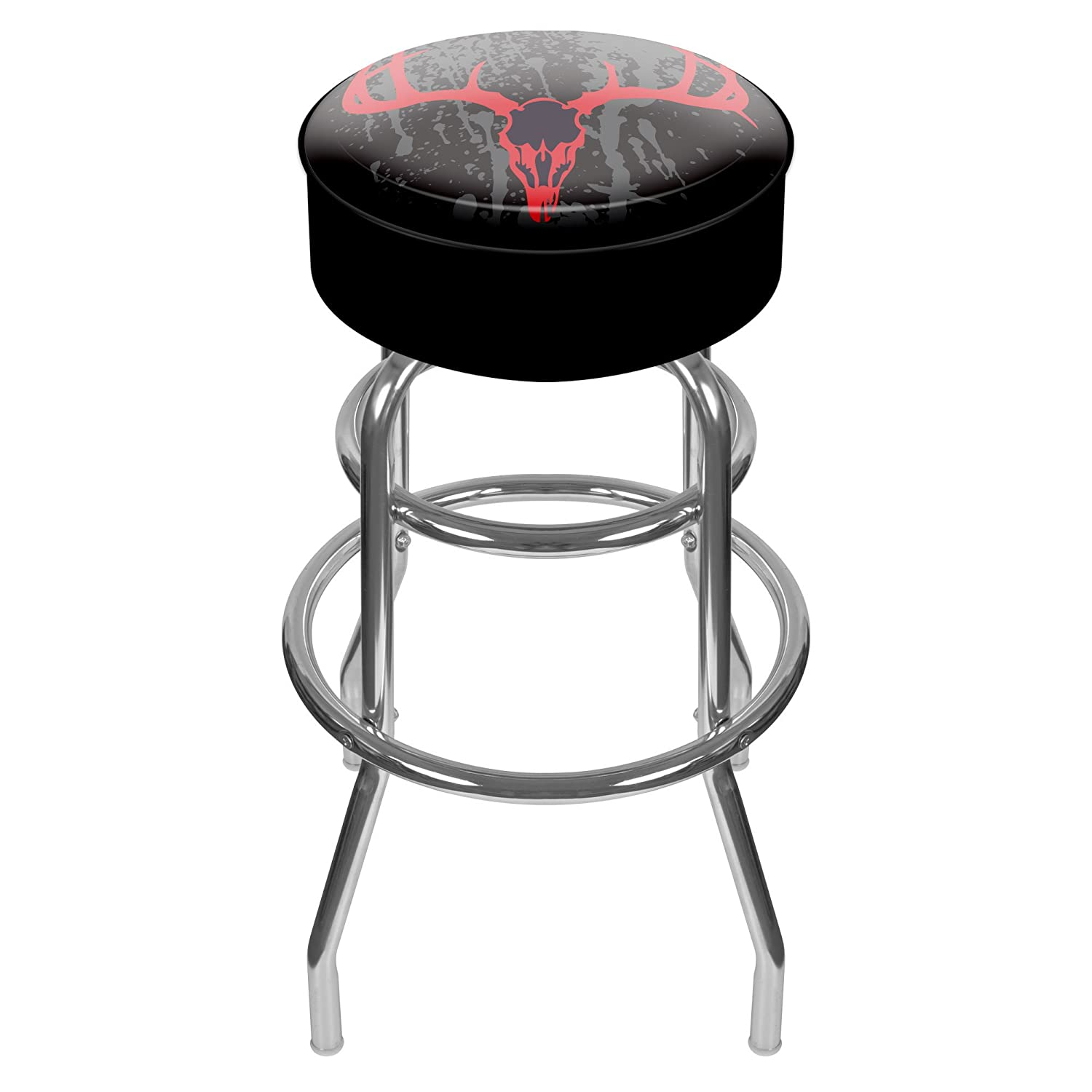 Hunt Skull Padded Swivel Bar Stool