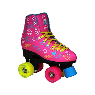 Epic Skates Epic Blush Indoor/Outdoor Fashion High-Top Quad Roller Skates : Sports & Outdoors