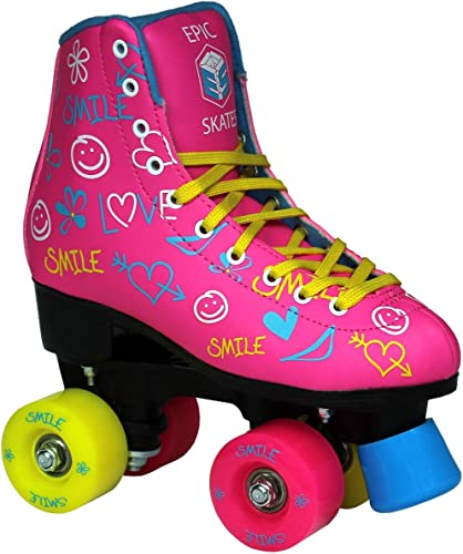 Epic Skates Epic Blush Indoor Outdoor Fashion High-Top Quad Roller Skates