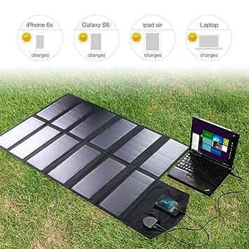YAMEIJIA Panel Solar Cargador de batería Solar de 80 W para ...