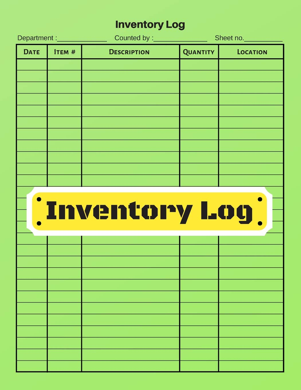 Amazon Inventory Log V 5 Inventory Tracking Book