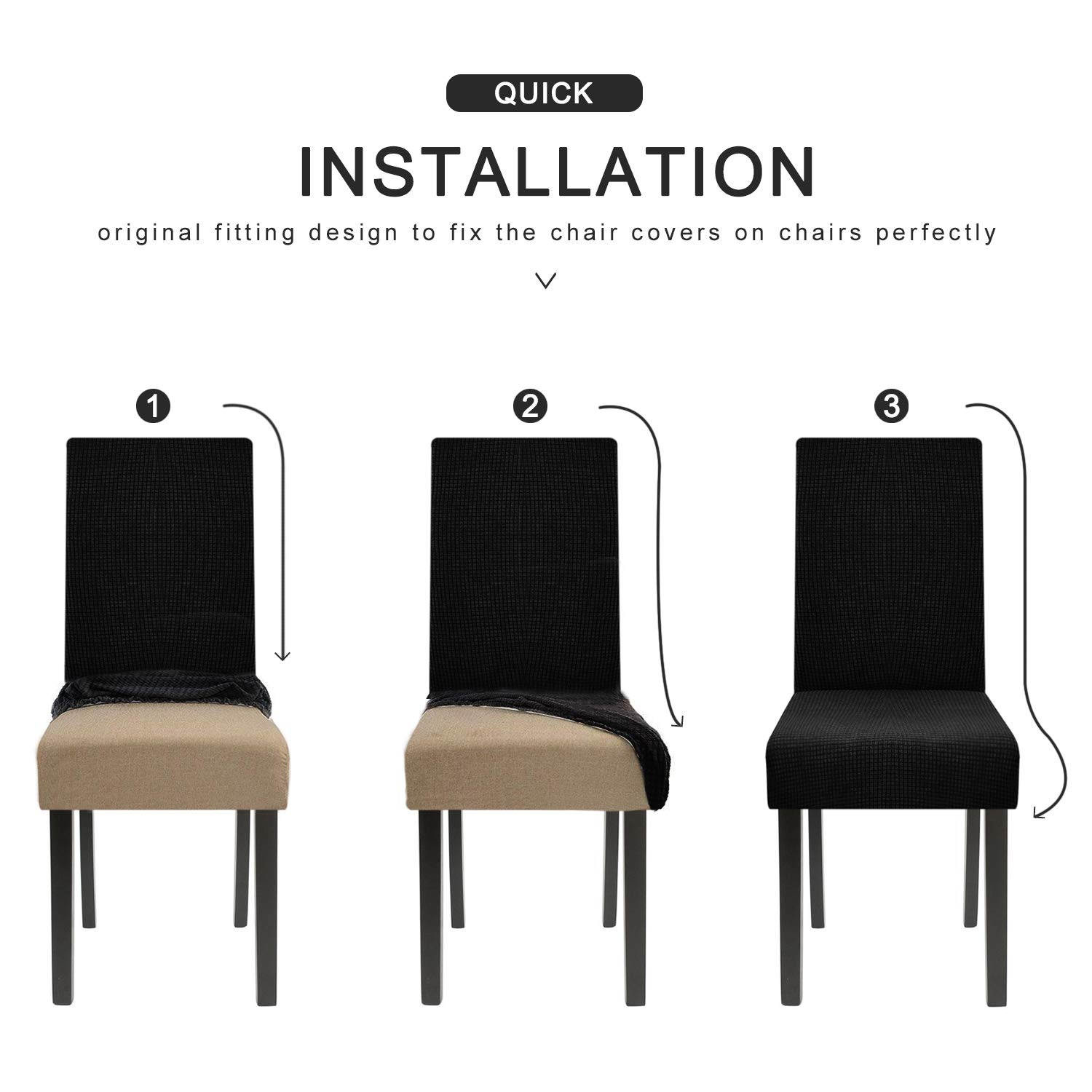 Homluxe Dining Room Chair Covers Stretch Kitchen Parson Chair