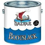 Halvar Bootslack Yachtlack Bootsfarbe Yachtfarbe PU-verstärkt für Holz und Metall verstärkt, extrem belastbar und hochelastisch Schiffslackierung