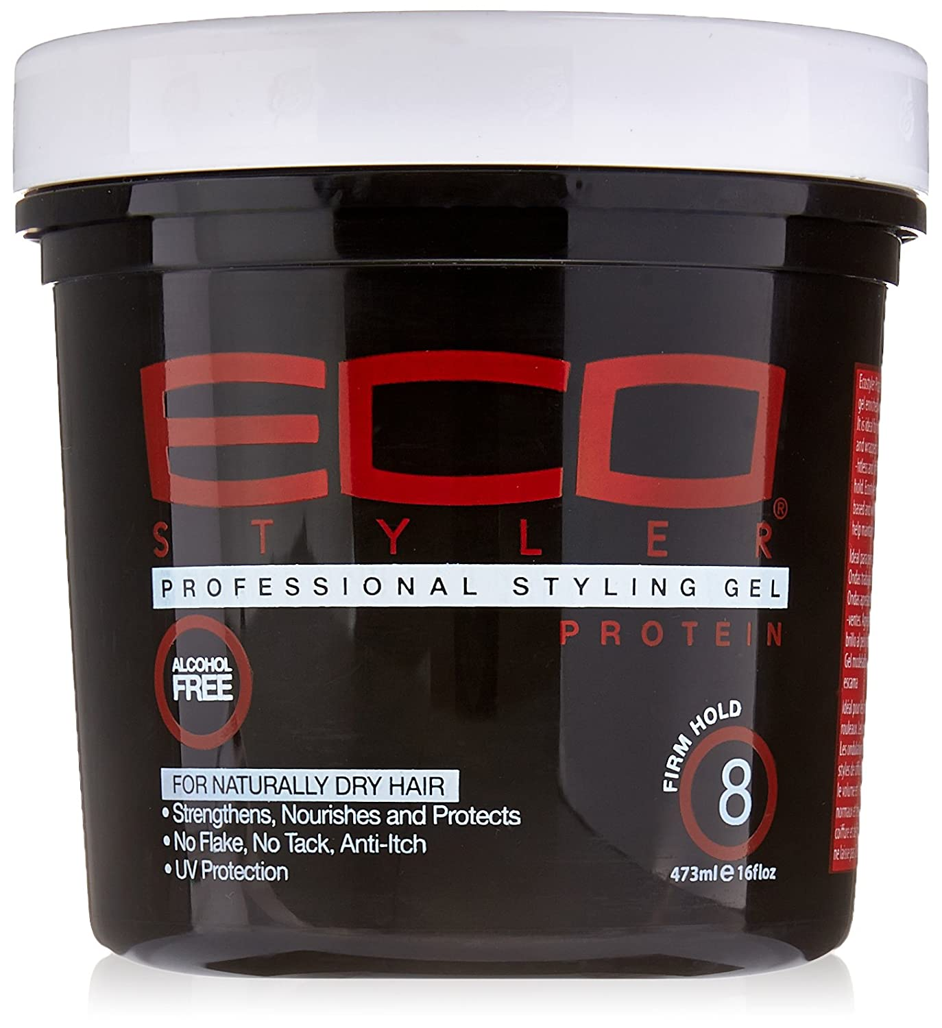 ECOCO Firm Hold Protein Styling Gel, 16 Ounce Atlas Ethnic 1150774