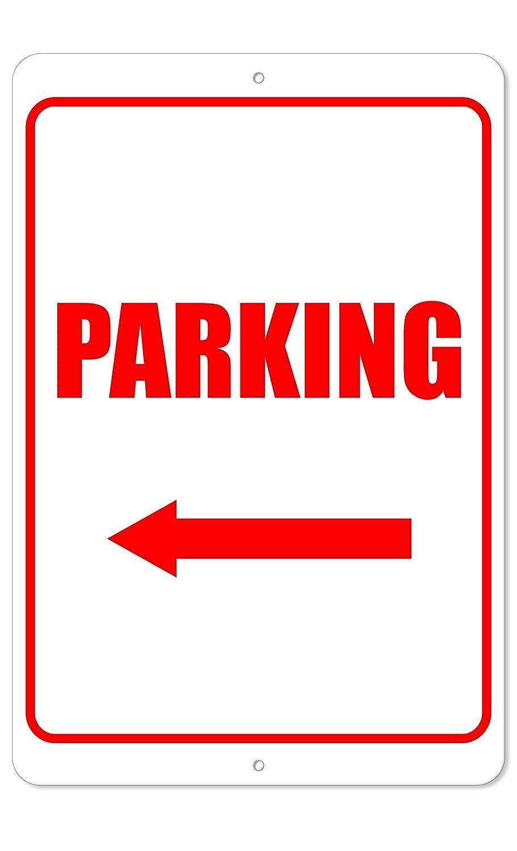 Amazon.com: Señal de estacionamiento de la flecha izquierda ...