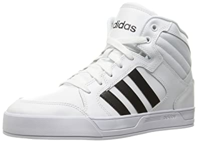 adidas Originals Women's Shoes | Raleigh Mid Fashion Sneakers,  White/Black/White,