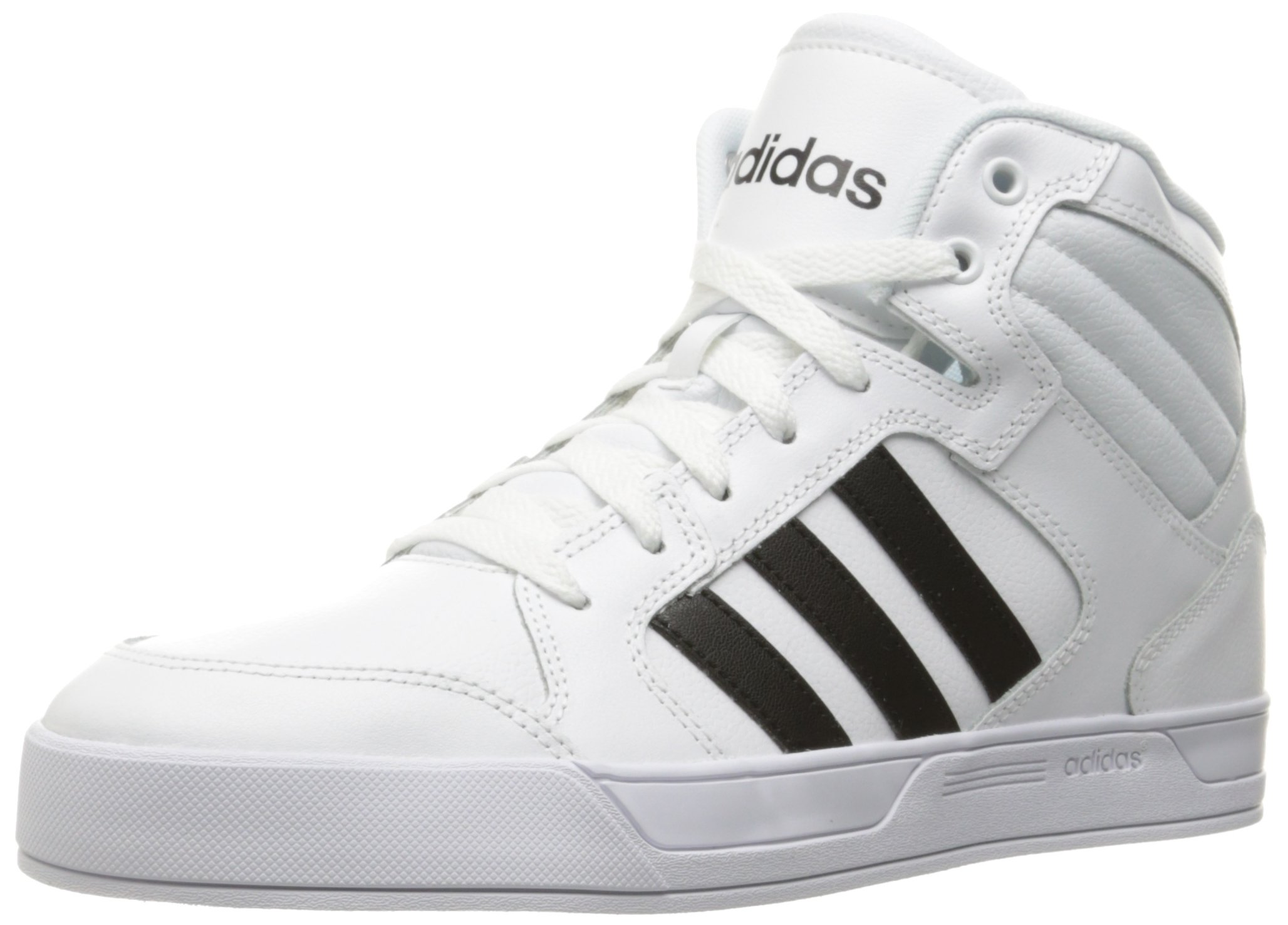 adidas Women's Shoes | Raleigh Mid Fashion Sneakers, White/Black/White, (11 M US)