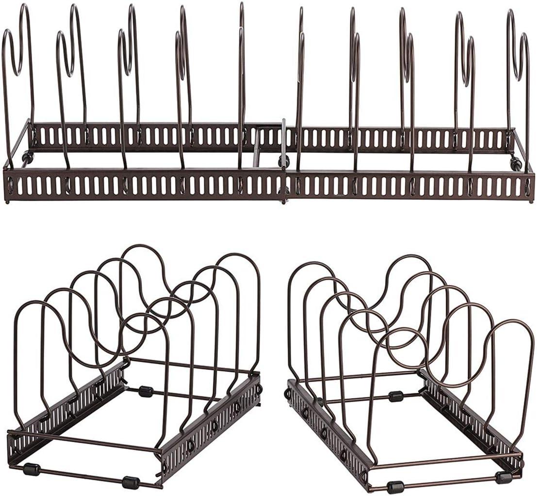 Perfekt f/ür Kochgeschirr Deckel Toplife/Pfannenhalter 3 DIY-Methoden Topflappenhalter Edelstahlhalter K/üchenablage mit 10 verstellbaren F/ächern T/öpfe