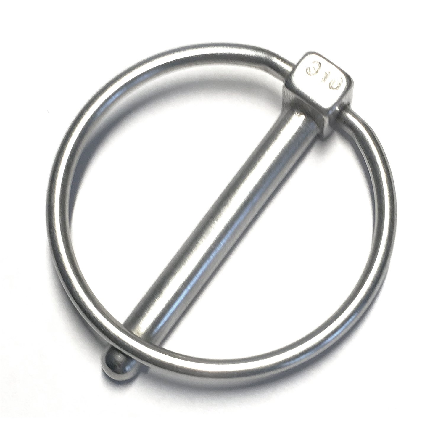 Stainless Steel 316 Linch Pin Ring Catch 8mm or 5//16 marine Grade 2 Pieces US Stainless