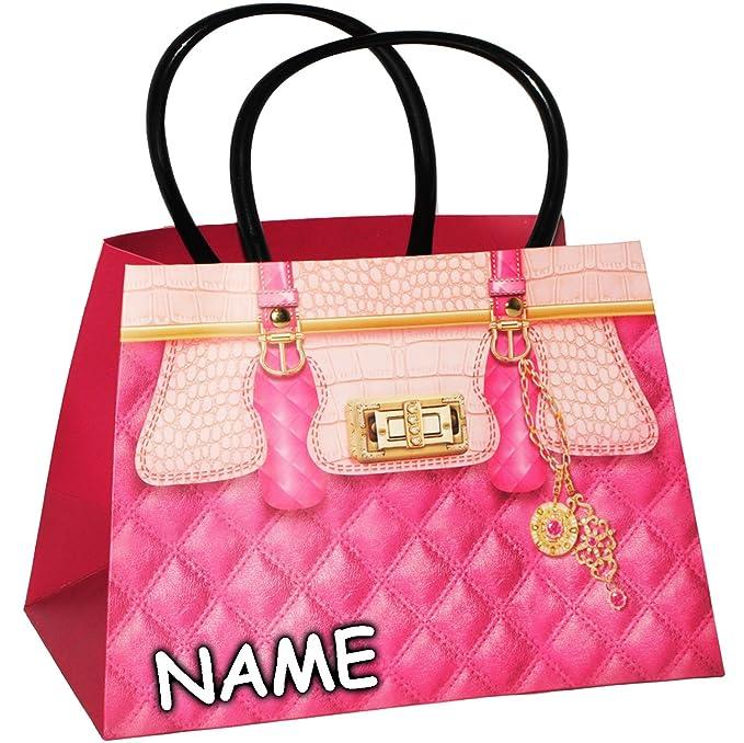 00a12c3104b06 Unbekannt 3-D Effekt   Geschenktasche   Geschenkbeutel - Clutch - Damen  Handtasche - Motiv-Mix - inkl. Name - Geschenktüte   Geschenkverpackung -  Verpackung ...