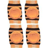 Mee Mee Soft Baby Knee Elbow Pads, Orange (Pack of 2)
