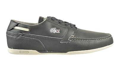 9d50906b972534 Lacoste Dreyfus CLL SPM Leather Men s Shoes Dark Grey Light Grey  7-25spm5014-