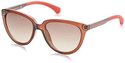 a97f70047a552 Óculos de Sol Calvin Klein Jeans Ckj802s 203 55 Marrom Transparente ...
