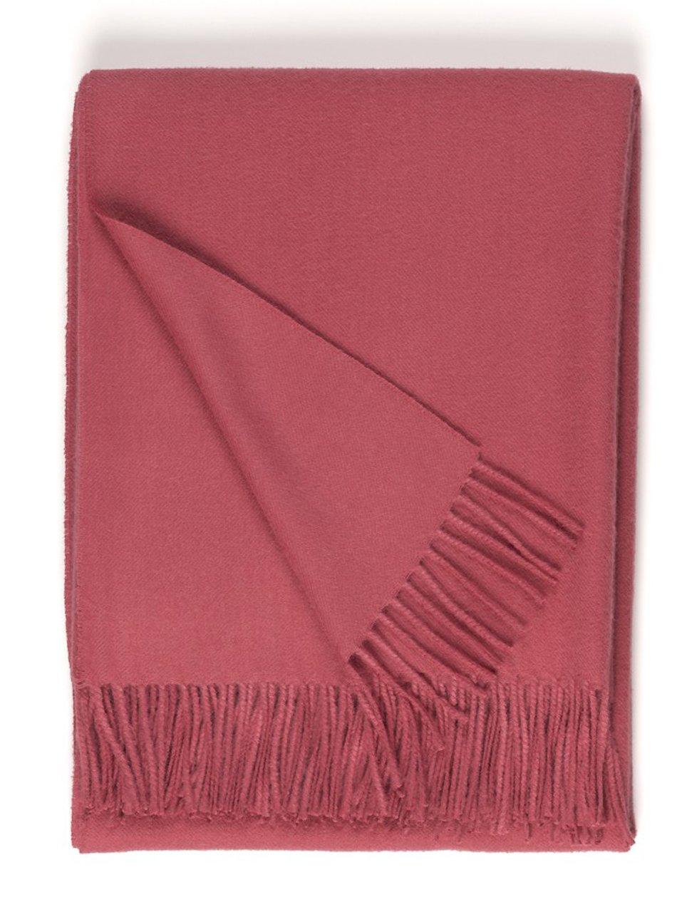 100% Pure Premium Baby Alpaca Eco Sofa Throw Blanket, Solid 71'' X 51'' (Terra Cotta Rose)