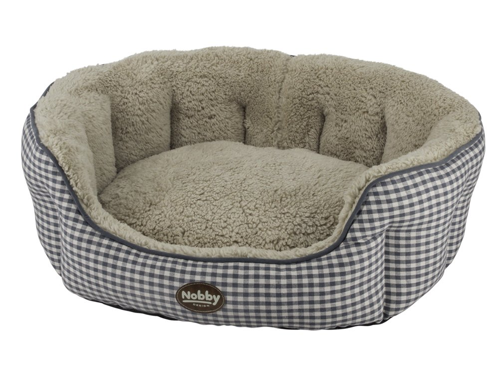 Nobby Xaver 60820 Oval Comfort Bed, Grey