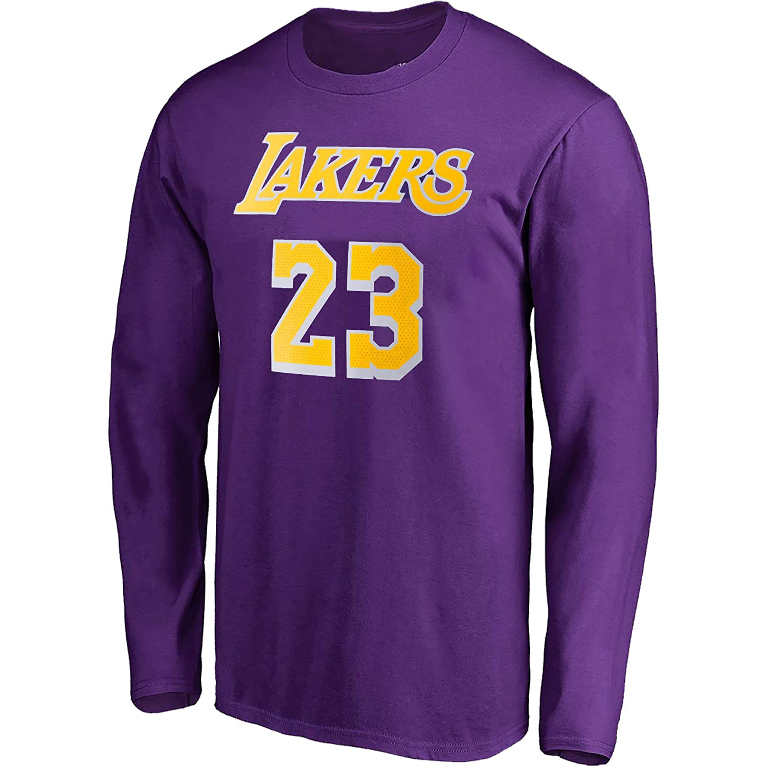 Outerstuff NBA Youth Game Time Team Color Player Name and Number Long Sleeve Jersey T-Shirt