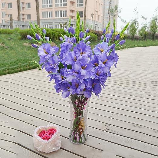 80 Cm Artificial Gladiola Gladiolus Tallo De Flor Hogar Jardín ...