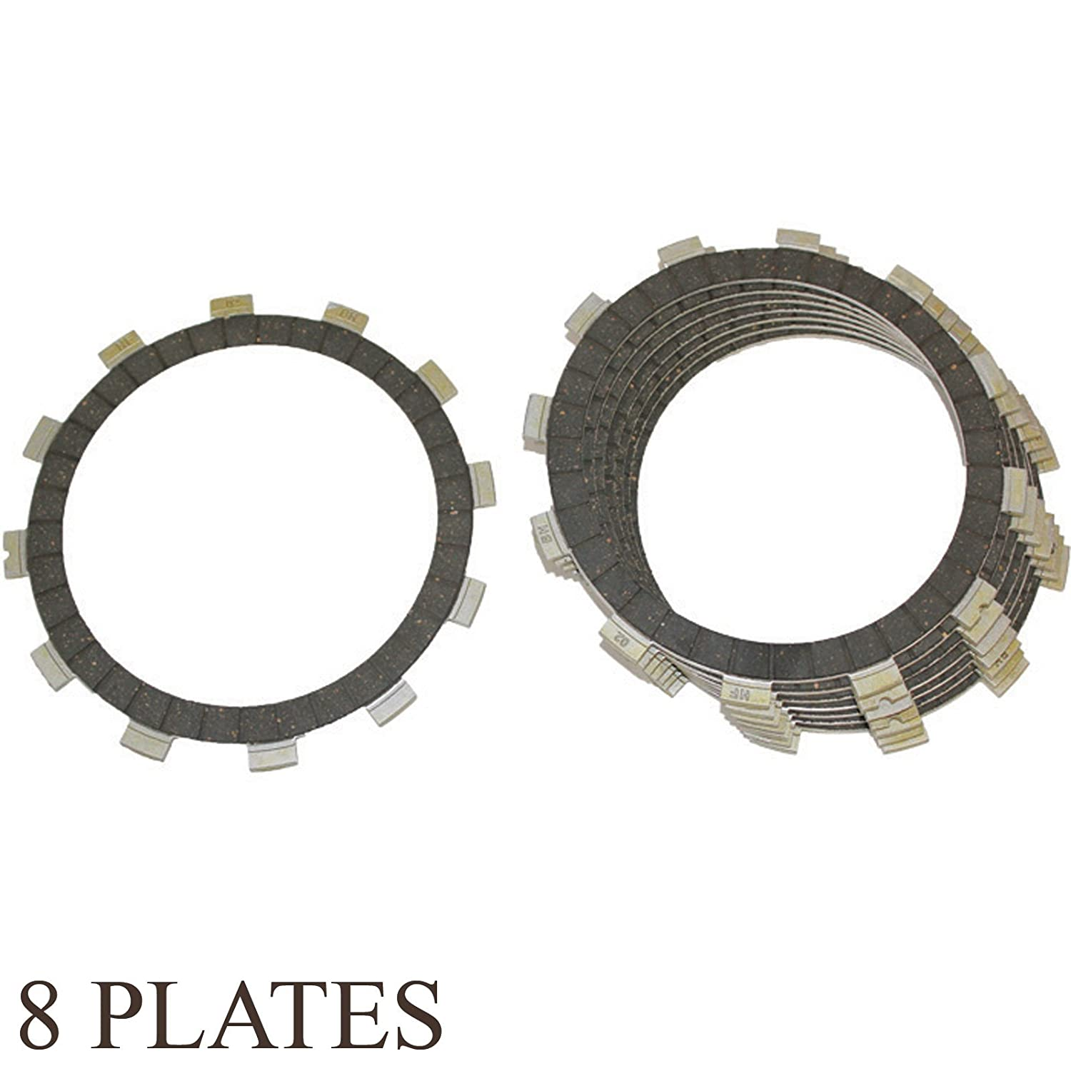 Amazon.com: Caltric CLUTCH FRICTION PLATE Fits YAMAHA FZ6 FZ6N FZ6S FZ600S FZ600SC FZ-600SC 2004-2007 8-PLATES: Automotive